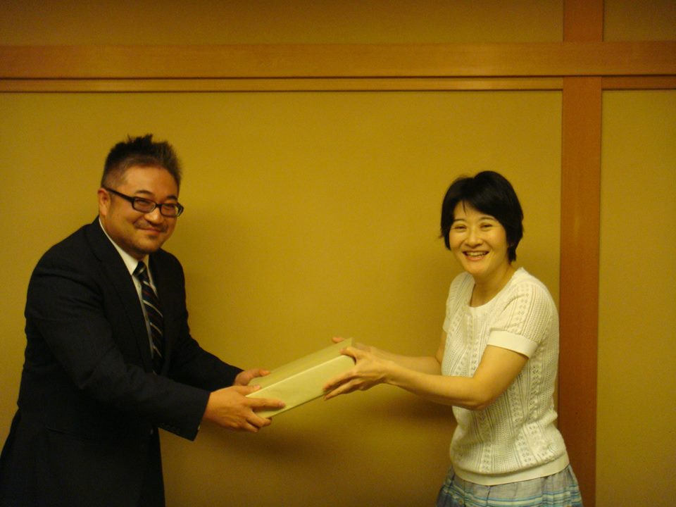 藤原英晃先生と佐藤晃子先生