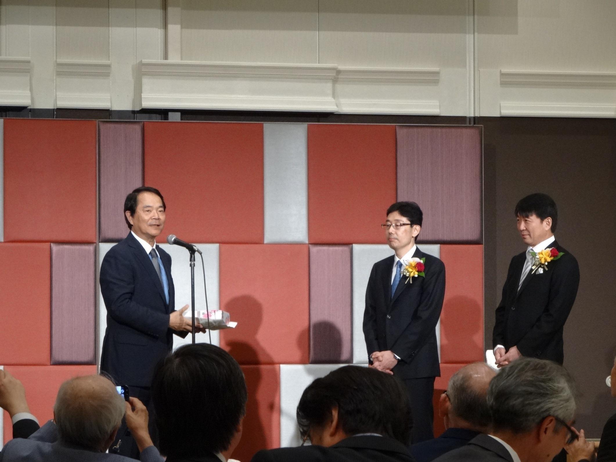 宮原信明先生,辻晃仁先生教授就任祝賀会