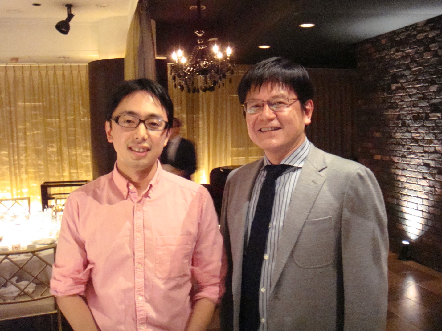 忘年会2015_西井研治先生・西井和也先生