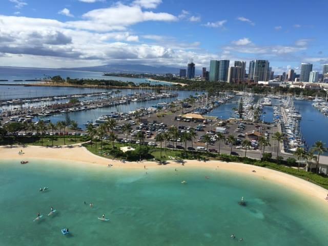 米国造血細胞移植学会(宿泊したホテルからのビーチの眺め)