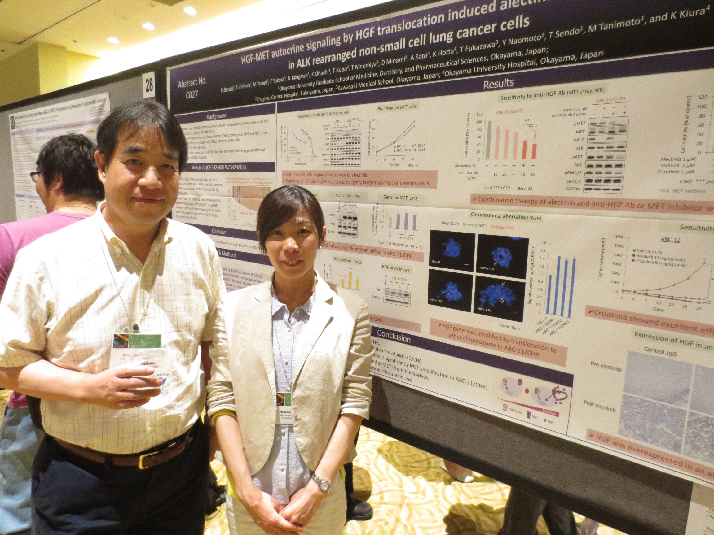 Tenth AACR-JCA joint conference in Maui (間野博行先生と磯崎英子先生)