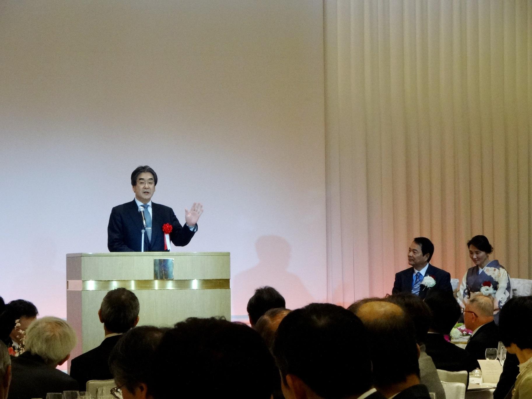 谷本光音教授就任15周年記念祝賀会(森田潔先生御祝辞)