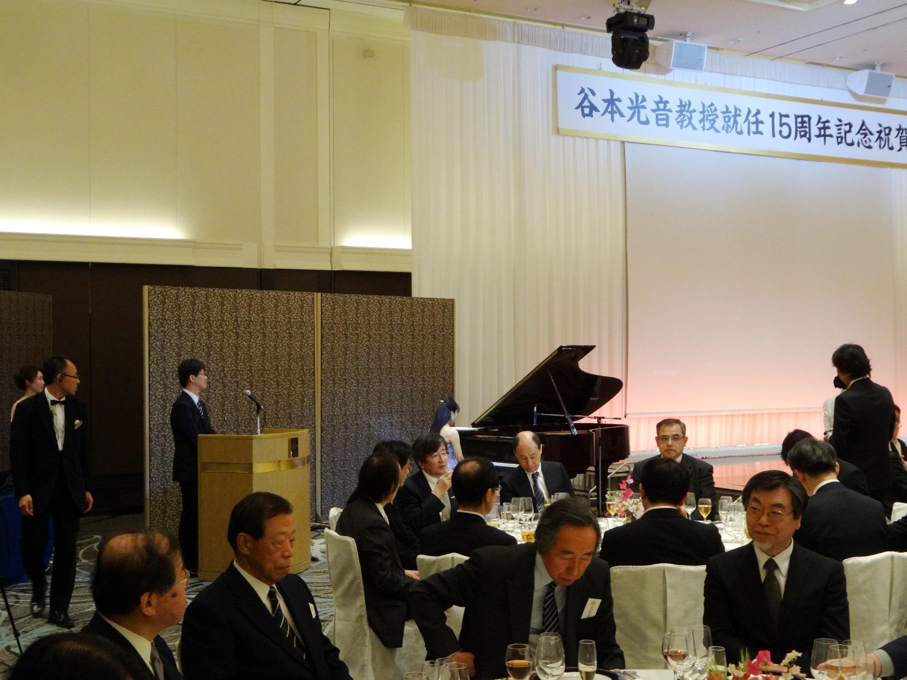谷本光音教授就任15周年記念祝賀会(藤井敬子先生ピアノ演奏)