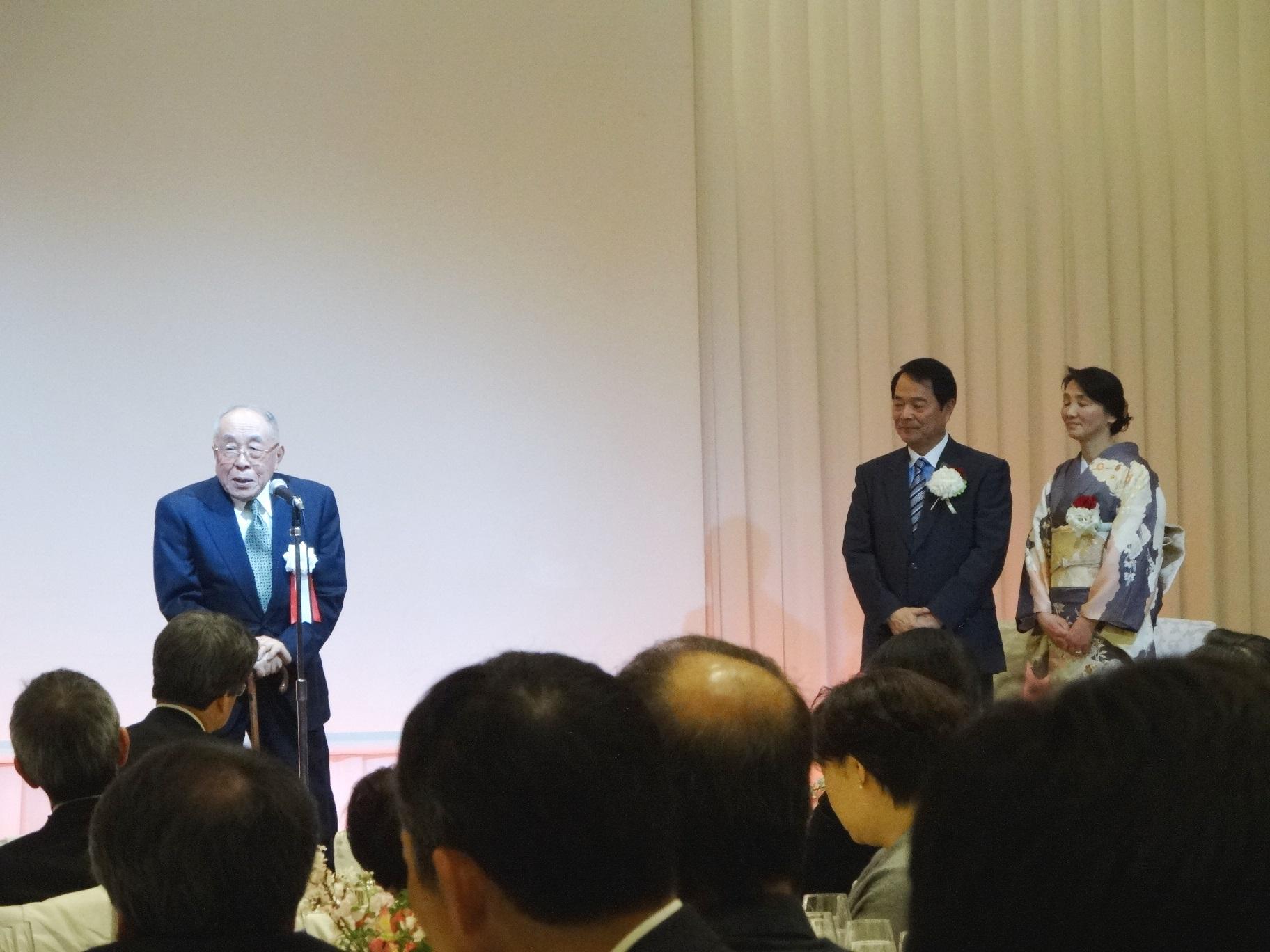 谷本光音教授就任15周年記念祝賀会(上村家門先生)